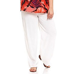 Live Unlimited - Ivory wide leg trousers