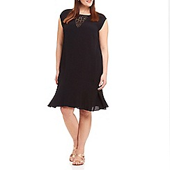 Live Unlimited - Dropped waist lace insert dress