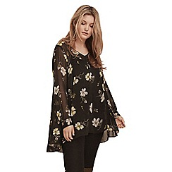 Live Unlimited - Spaced floral chiffon blouse