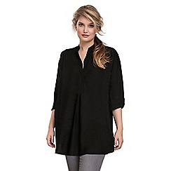 Live Unlimited - Black oversized chambray blouse