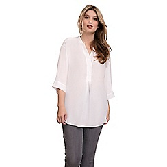 Live Unlimited - White oversized chambray blouse