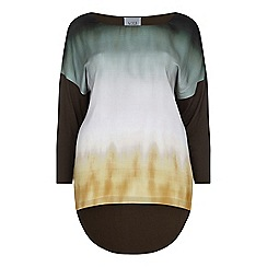 Live Unlimited - Satin front ombre cocoon t-shirt