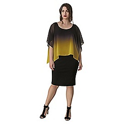 Live Unlimited - Black dress with yellow ombre cape