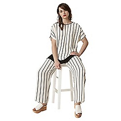 Live Unlimited - Black and ivory stripe wide leg trousers