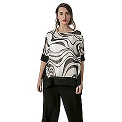 Live Unlimited - Mono wave print top