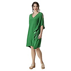 Live Unlimited - Green waterfall satin back dress