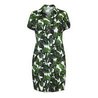 b35ea0ec00 Live Unlimited - Banana leaf print shirt dress