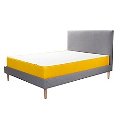 Eve - Grey premium pine bed frame with headboard