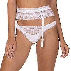 Lisca - White 'Forever' Suspender Belt