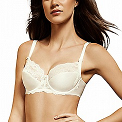 Lisca - Cream 'Unique' lace detail full cup bra