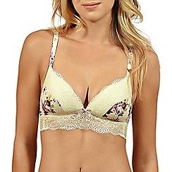 Lisca - Cream floral 'Britney' non-wired triangle bra