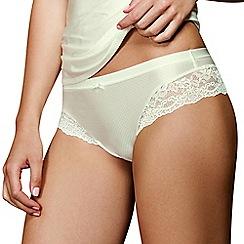 Lisca - Cream lace detail Brazilian briefs