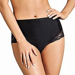 Lisca - Black 'Unique' lace detail high briefs