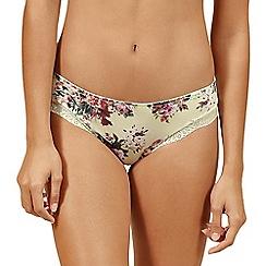 Lisca - Cream floral 'Britney' bikini knickers