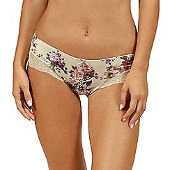 Lisca - Cream floral 'Britney' brazilian knickers