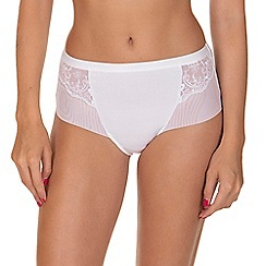Lisca - White 'Caroline' High Waisted Knickers