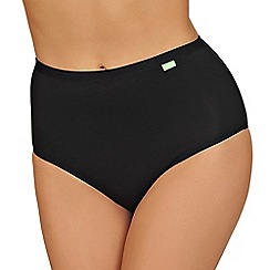 Lisca - 2 pack black cotton 'Aura' full brief knickers