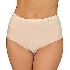 Lisca - 2 pack natural cotton 'Aura' full brief knickers