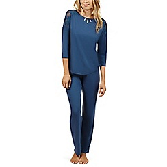 Lisca - Blue 'Brigitte' short sleeve pyjama set