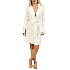 Lisca - Cream 'Beatrice' long sleeve dressing gown