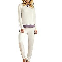 Lisca - Cream 'Bonny' long sleeve pyjama set