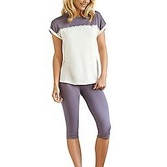 Lisca - Cream 'Bonny' short sleeve pyjama set