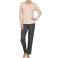 Lisca - Peach champagne 'Charlene' jersey pyjama set
