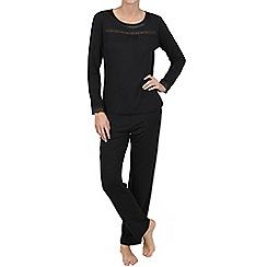 Lisca - Black 'Caroline' jersey pyjama set