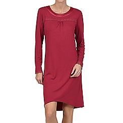 Lisca - Red 'Caroline' long sleeve short night dress