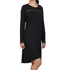 Lisca - Black 'Caroline' long sleeve short night dress