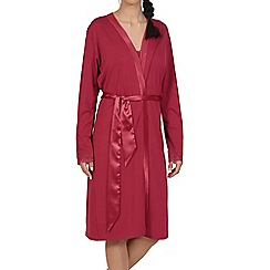 Lisca - Red 'Caroline' lightweight morning gown