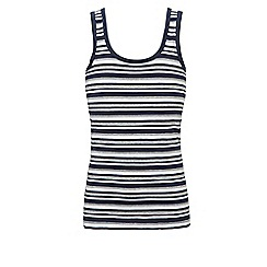 Ten Cate - Navy boys' stripe vest