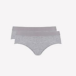 Ten Cate - 2 pack grey 'fine' bikini knickers