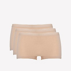 Ten Cate - 3 pack tan cotton seamless shorts