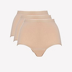 Ten Cate - 3 pack tan cotton seamless full brief knickers