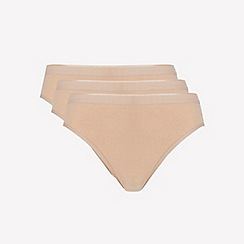 Ten Cate - 3 pack tan cotton seamless bikini knickers