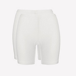 Ten Cate - 2 pack cream cotton seamless long shorts