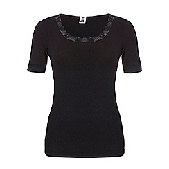 Ten Cate - Black short sleeve thermal T-shirt