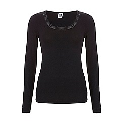 Ten Cate - Black long sleeve thermal top