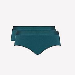 Ten Cate - 2 pack Dark green 'fine' bikini knickers