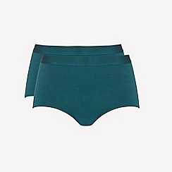 Ten Cate - 2 pack Dark green 'fine' midi knickers