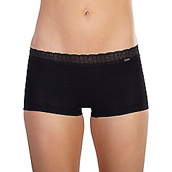 Ten Cate - Black 'Luxury Cotton' lace band shorts