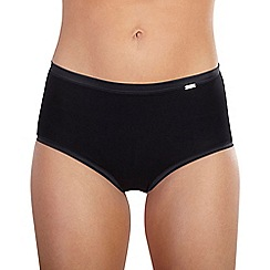 Ten Cate - Black 'Luxury Cotton' satin band midi briefs