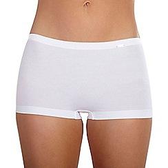 Ten Cate - White 'Luxury Cotton' satin band shorts