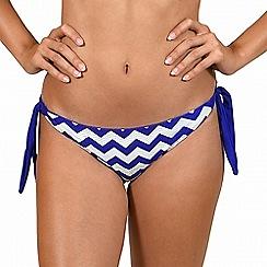 Lisca - Blue 'Egipt' tie-side bikini bottoms
