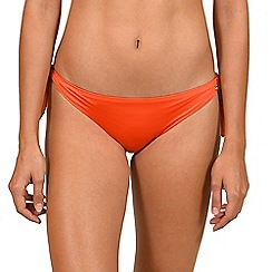 Lisca - Orange 'Gran Canaria' tie-side bikini briefs