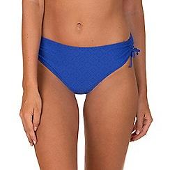 Lisca - Bright Blue 'Kala Nera' Ruched Bikini Bottoms