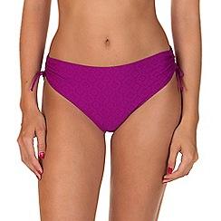 Lisca - Purple 'Kala Nera' Ruched Bikini Bottoms