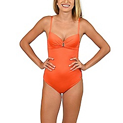 Lisca - Orange 'Gran Canaria' foam cup swimsuit