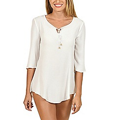 Lisca - White 'Livorno' beach tunic
